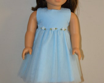 Blue party dress and matching head wreath