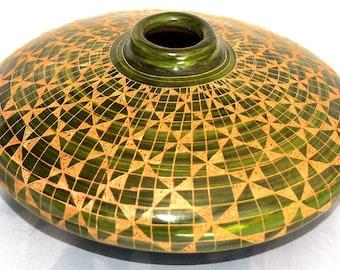 Flat shape handmade geometric design