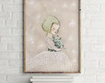 Girls room decor, nursery decor, nursery decor girl, art for kids room, girls wall decor, wall art for girls, prints for girls room