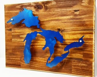 Great Lakes Metal 3D Wall Decor - Michigan Made