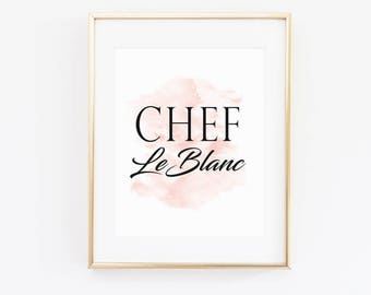 CUSTOM Chef Print // Digital Download 11x14 // Resizable for 4x6, 5x7, 8x10