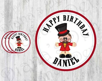 Circus Stickers/Circus Tags/Circus Labels/Circus Party/Circus Birthday/Carnival Stickers/Carnival Tags/Carnival Labels/Carnival Party/