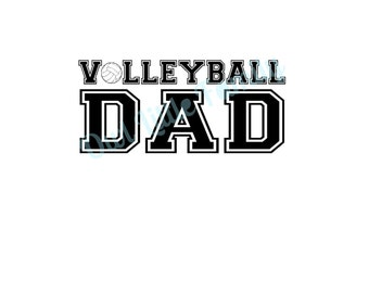 Volleyball Dad Iron On Vinyl Decal