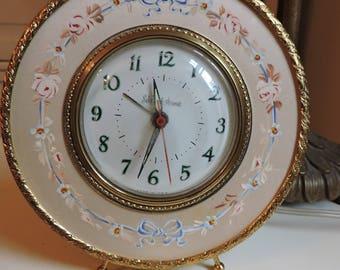 Vintage Saks Fifth Avenue Clock Shabby Chic Cottage Decor
