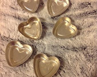 Small heart baking tins