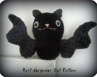 Amigurumi Knit Bat Pattern Digital Download