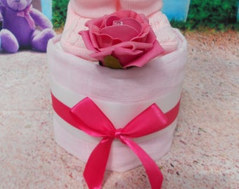 Mini 1 tier Nappy Cakes - all colours, baby shower, new baby gift