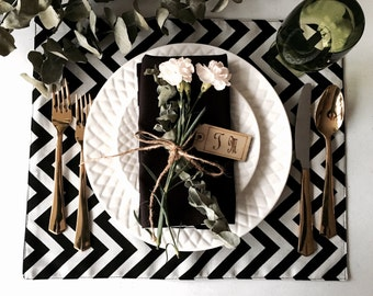 Black and White Placemats (Set of 2)