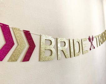 Bride Tribe Banner, Bride Tribe Decorations, Bridal Shower Banner, Bride Tribe Party Decor, Hen Party, Bride Tribe Bunting