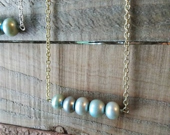 Simply Blue Freshwater Pearl Necklace