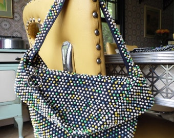 Groovy Beaded Pocketbook, Purse From the 1970s