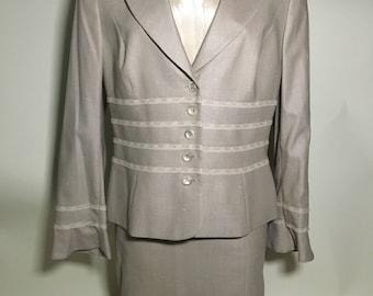 Vintage Escada Skirt Suit