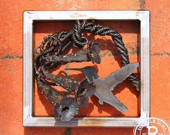 Steel Wall Sculpture 'Trumpets for a King'
