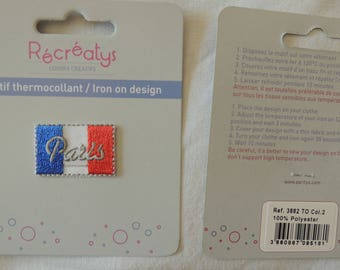Patch Thermo flag writing Paris french