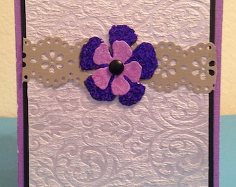 Blank Purple Greeting Card