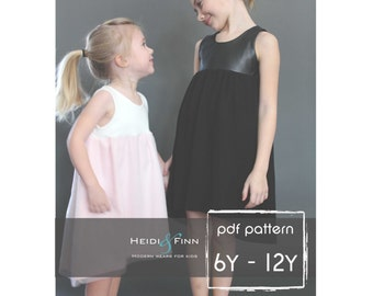 Sugar n Spice dress and romper pattern and tutorial PDF 6-12y  tunic dress jumper playsuit easy sew