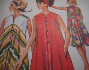 Vintage 1960's McCall's 7152 Dress Sewing Pattern Size Large 18-20 Bust 38-40