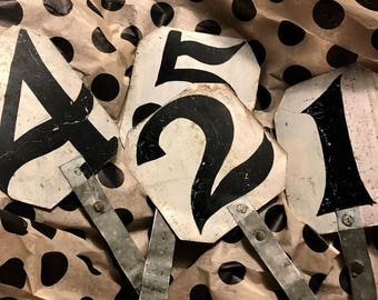 Dog Race Numbers,4 Antique Metal Race Numbers