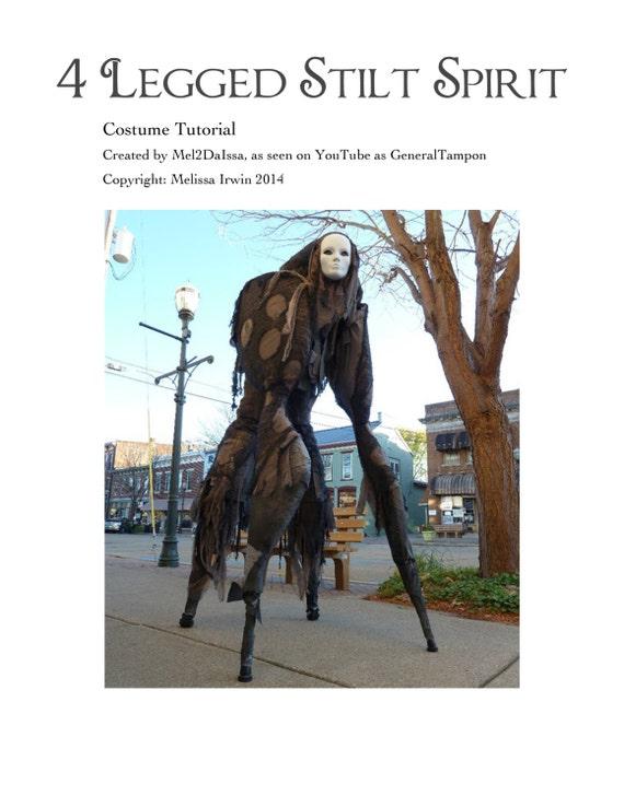sc 1 st  Etsy & 4 Legged Stilt Spirit Halloween Costume Tutorial As Seen on