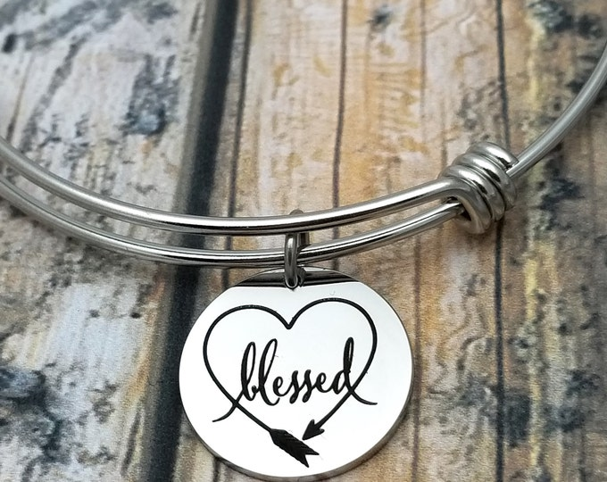 Blessed Customizable Expandable Bangle Charm Bracelet, choose your charms, create your style, design your bracelet,