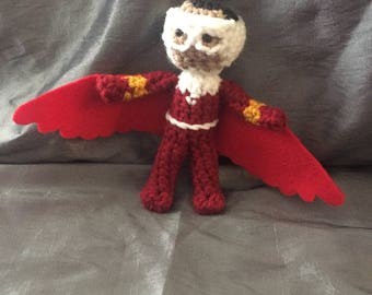 Handmade Avengers: The Falcon//Crochet Doll//Gifts for Her//Gifts for Him//Collectible Miniature Toys//Amigurumi//Baby Shower Gift//Art Doll