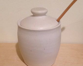 Honey Pot - Alabaster White - Round Belly - MADE TO ORDER