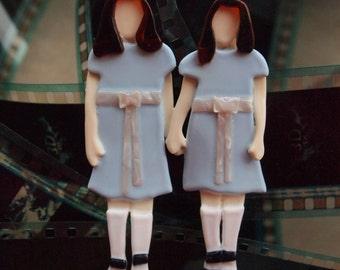 The Shining Twins Brooch