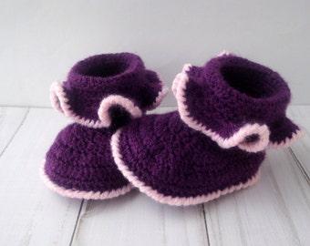 CROCHET PATTERN -Crochet Baby Booties Pattern -Pattern Crochet Baby Booties -Crochet Baby Booties