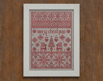 Small Christmas Sampler  - Instant Download PDF Pattern