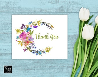 Summer Breeze Thank You Card Printable