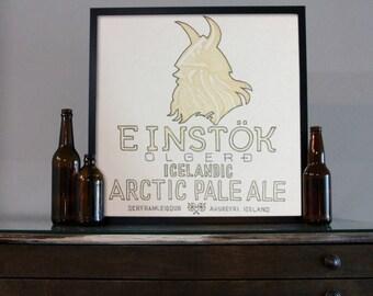 Beer Art - Craft Beer Art - Beer Painting - Einstok Olgero Art