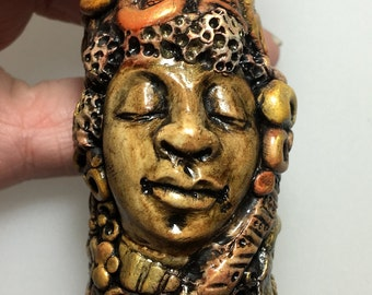 One of a Kind Sculpted Bead - Bridget