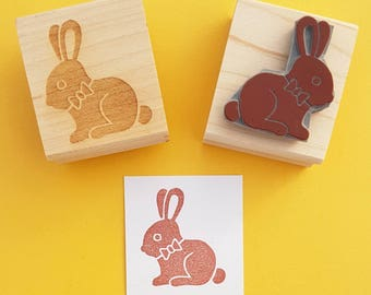 Chocolate Bunny Rabbit Stamp - Rabbit Rubber Stamp - Easter Bunny Rubber Stamp - Easter Rubber Stamp - Easter Craft