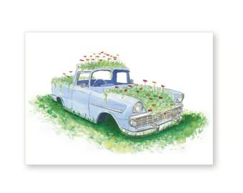 Vintage Car Birthday Card – Full Bloom