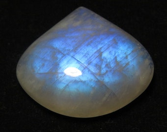 Rainbow Moonstone - Heart Shape Cabochon size  - 27x30 mm  - weight - 58.30 crt