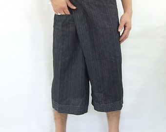 100% cotton thai fishermanpants handmade by my mum short 3/4 legs style 040S