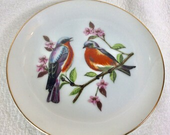 Vintage Chadwick Miller Blue Bird collectible plate Japan.