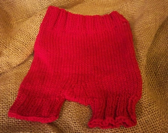 Wool Knit Soaker Pants Red
