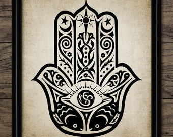 Hamsa Print Art Hand Poster
