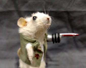 Merle taxidermy Mouse