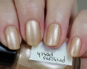 princess peach - a happy peachy spring nail polish