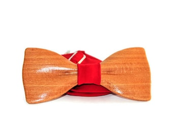 wooden bow tie, mens bow tie, wedding bow tie, wood bow tie, groomsman bow tie, gift for him, mens bow ties, limited bow tie from beech wood