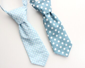 Polka dot necktie, neck tie, toddler neck tie, baby necktie, baby boys tie, light blue or petrol pick one