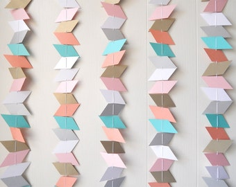 Parallelogram Garland Bunting Banner / Photo Backdrop / Wall Hanging / Beach House Decor / Summer Wedding / Nursery Bunting