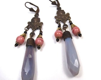 Long Czech Glass Earrings