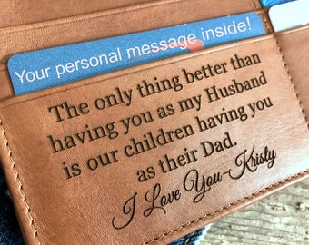 Personalized men's wallet • custom engraved wallet • personalized gift for dad, personalized Fathers day gift • Toffee 7751 >