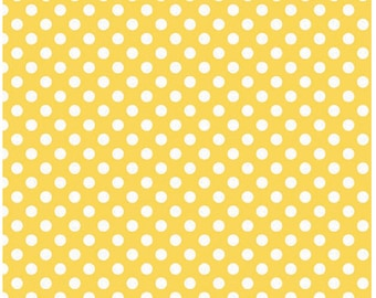 Small Dots Yellow  - Half  Yard Cut - Riley Blake Designs - Cotton Fabric - Dots Fabric