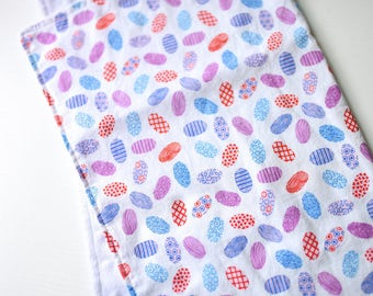 Lovey - Blankie - Security blanket - Minky -  Pink - White - Purple - Blue - Easter Eggs - Baby shower gift - Baby