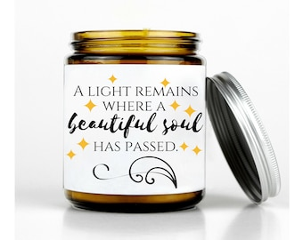 Personalized Sympathy Candle, Remembrance Gift, Memorial Candle, Condolence Gift,  In Memory of, bereavement gift, sympathy gift, memorial