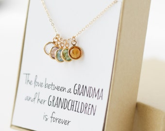 Gifts for grandma etsy birthstone charm necklace grandma gift gifts for grandma grandmother gift grandmother necklace negle Images